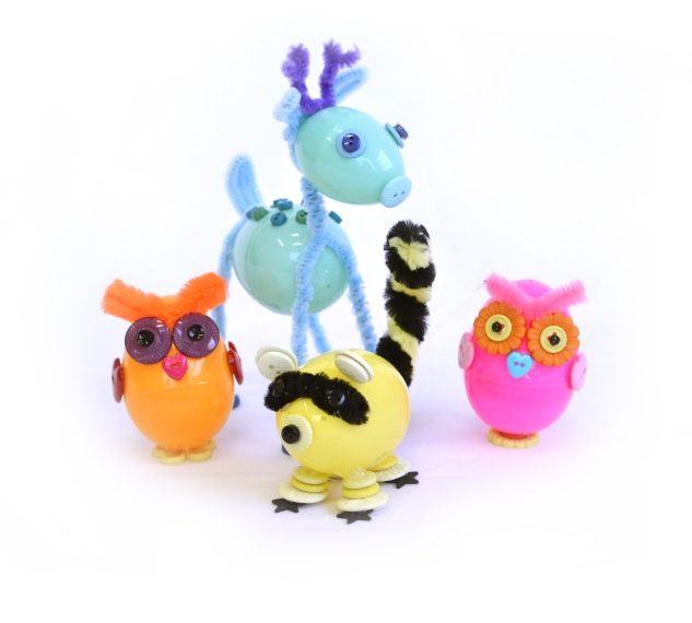 Jesse James Beads egg pipe cleaner forest animals